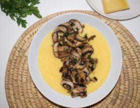 Polenta Crémeuse aux champignons