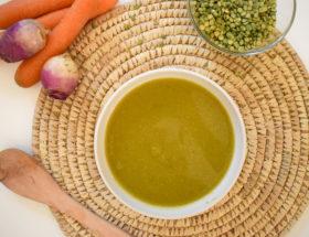 Soupe de légumes et pois cassé