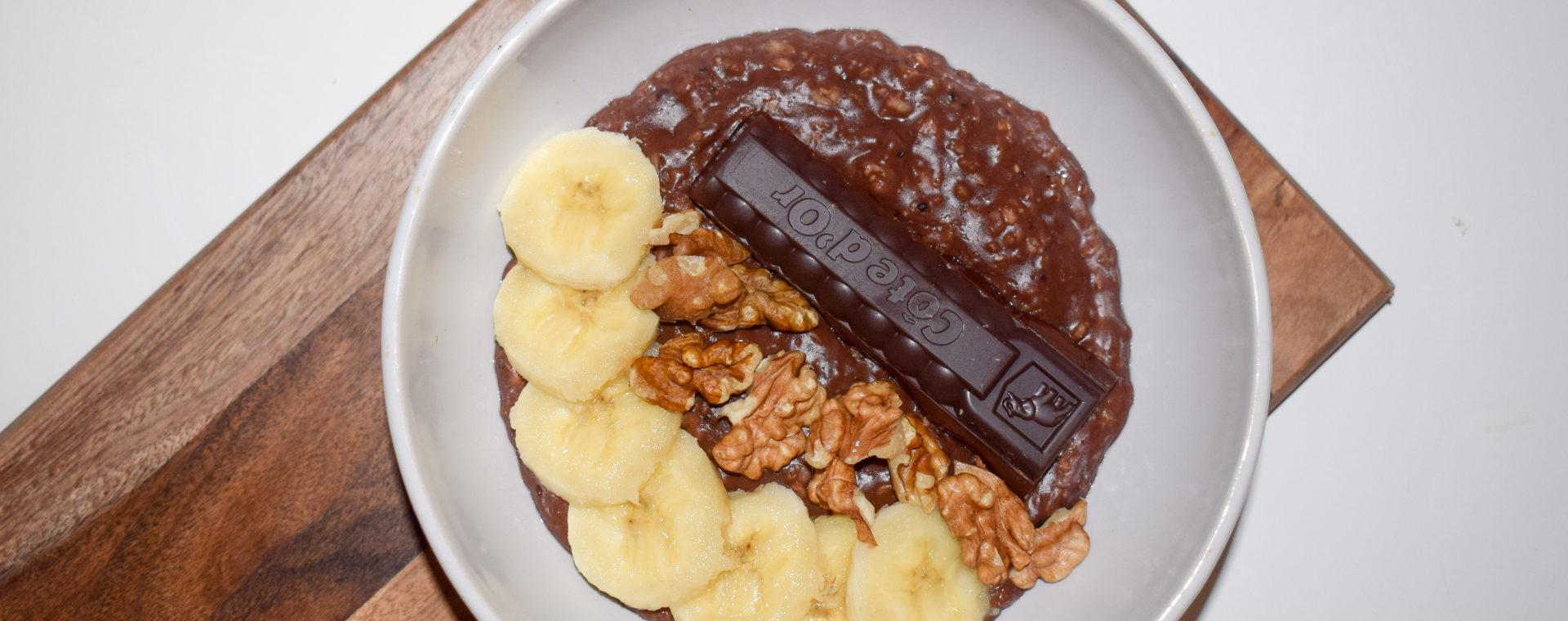 Porridge au chocolat
