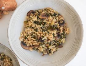 Risotto aux blettes et champignons