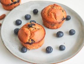 Muffins myrtilles et amande