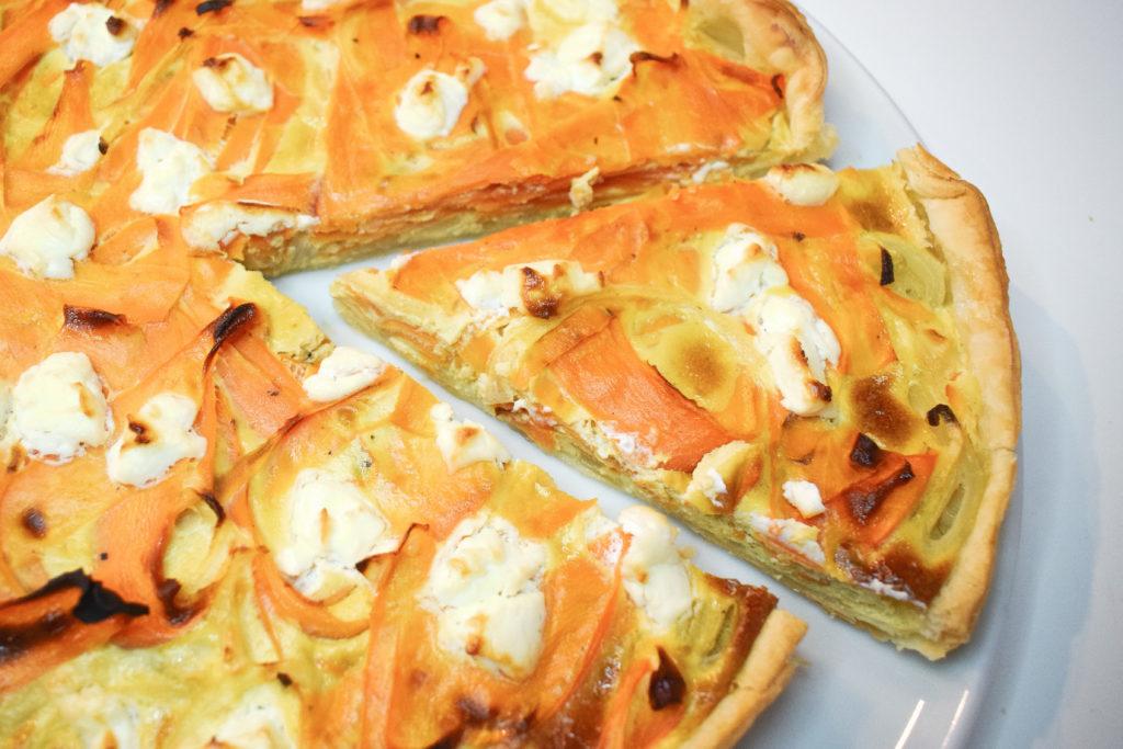Quiche aux carottes et oignon