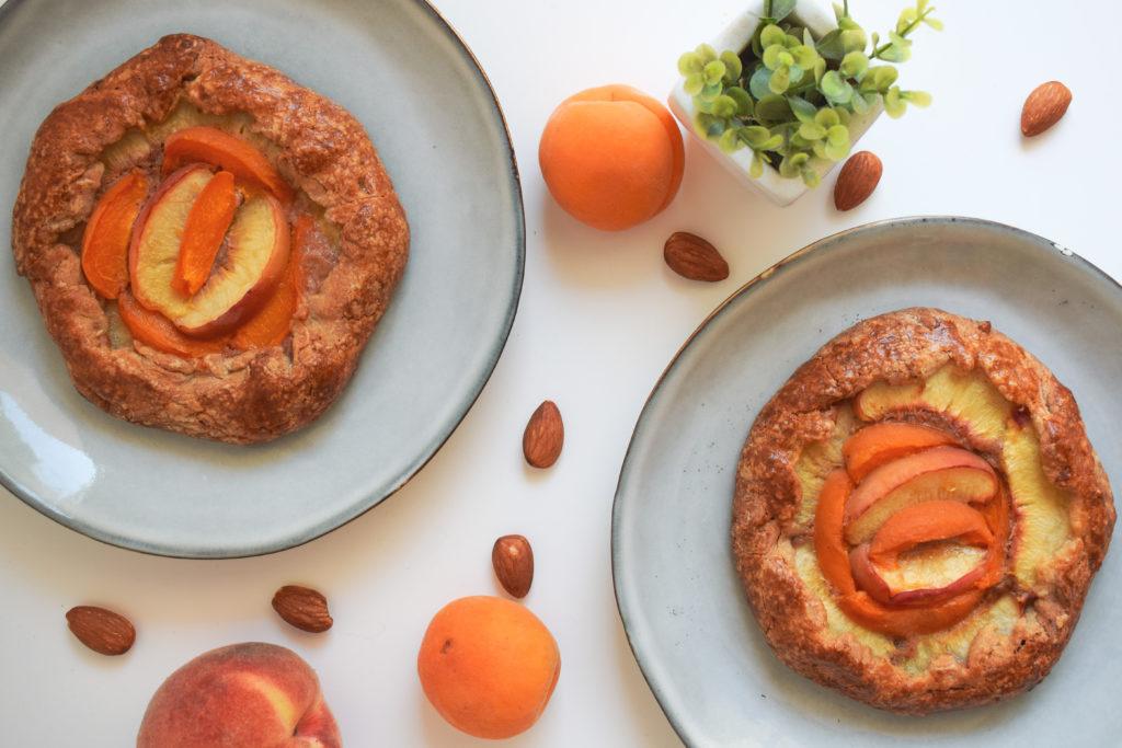 Tartelettes rustiques pêche abricot