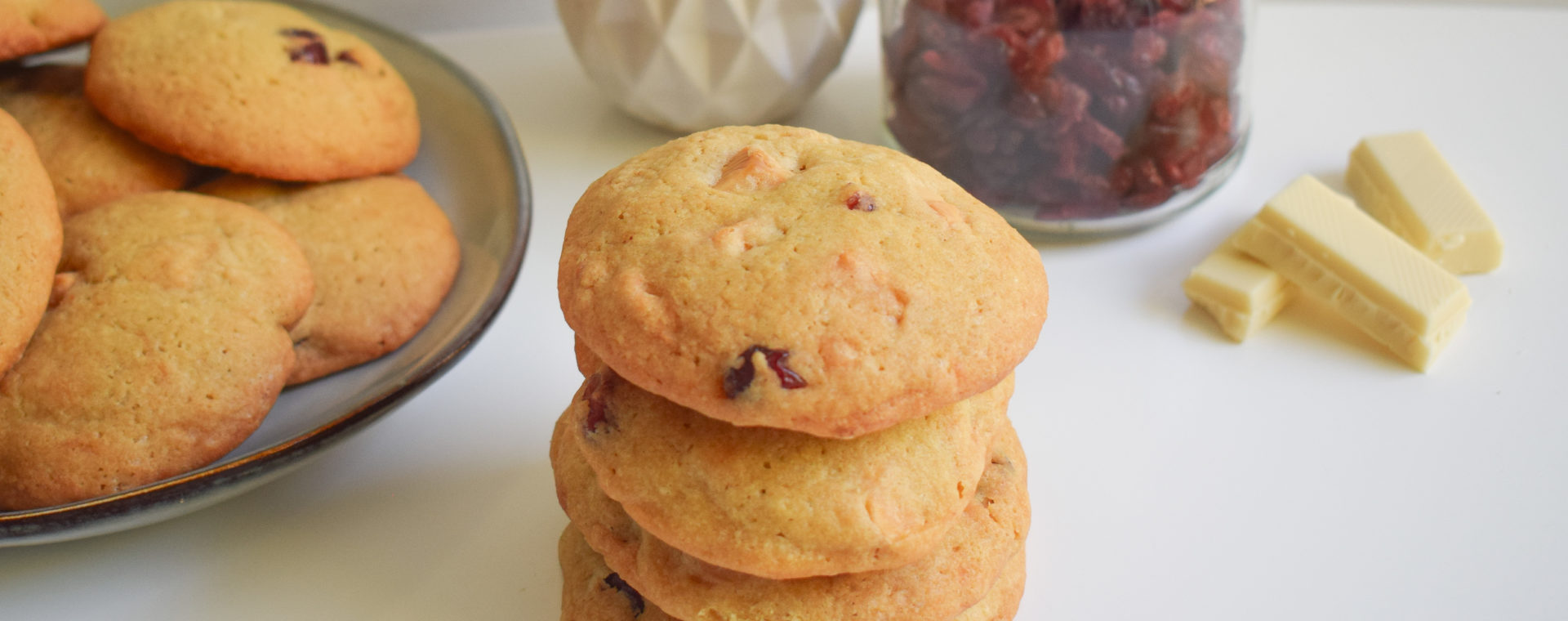 Cookies cranberry chocolat blanc